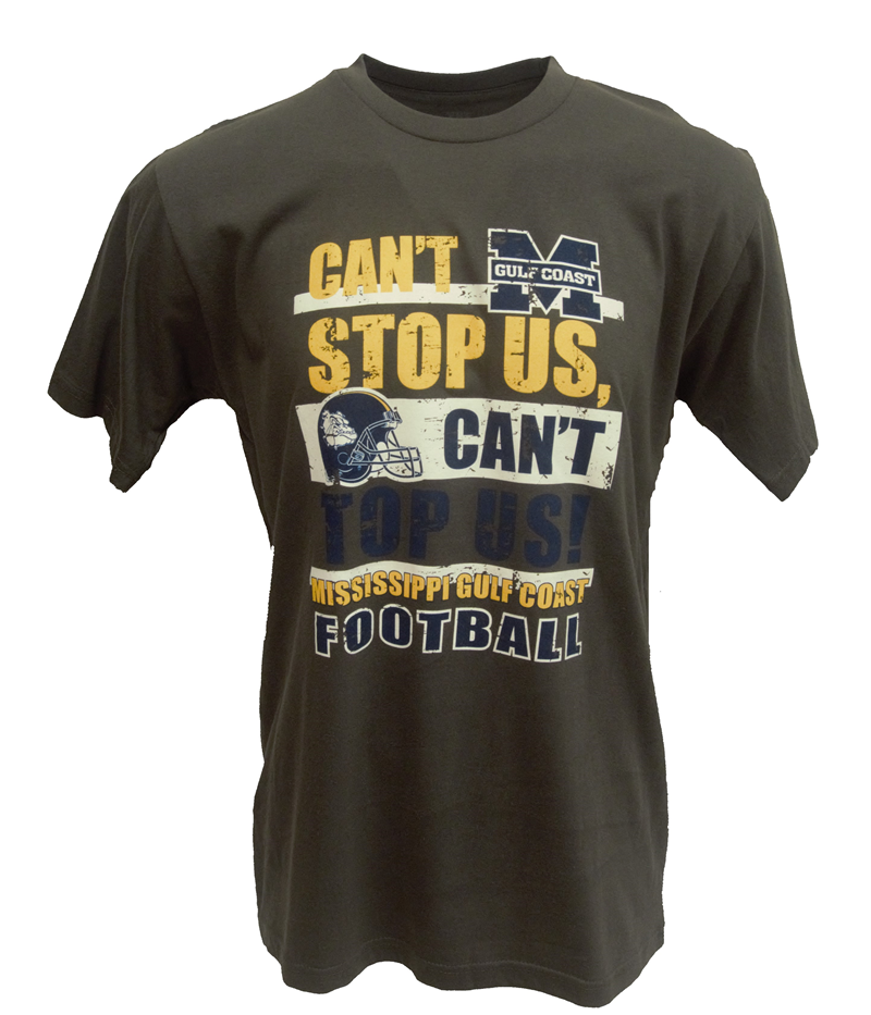 "T-Shirt Ss Grey Football ""Can't Stop Us, Can't Top Us"" (SKU 101181773)"